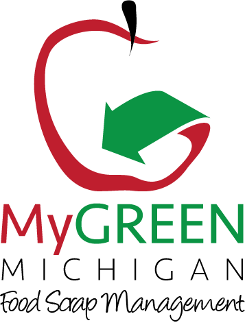 My Green Michigan Logo with Tagline - Food Scrap Management